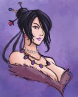 FFX - Lulu Sketch by kawoninja