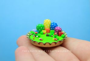 Super Mario Bros scene in a bottle cap! by TheCraftyWolf