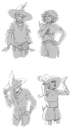Sketchtember 3 - Taako + Lup by yinza