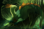 basking in the green by Grimmla