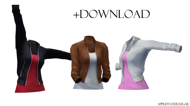 [MMD] Female Bomber Jacket (+DL) by AppleWaterSugar