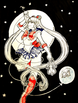 Day 29 - Sailor Moon by Afroblue72