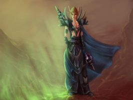 Blood Elf Mage by greyf0xuk