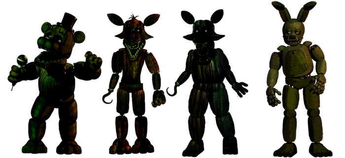 Fixed Phantoms and Springtrap(Reguest) by Fnaf-fan201