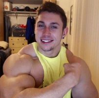 Sexy Musclemorphed Hunk-Mike Roulo by free42dream