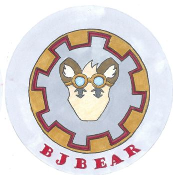 BJ Bear Conbadge by whaletrainer2002
