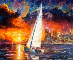 City Of Dreams by Leonid Afremov by Leonidafremov