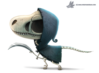 Daily Paint #1074. VelociReaper by Cryptid-Creations