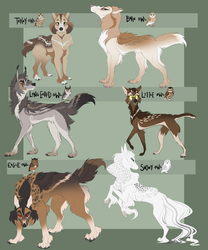 owl themed adopts (1/6 OPEN) by GlaciaLee
