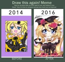 Draw This Again! Rin Kagamine - Daughter of Evil by Yitsune-Melody