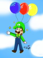~It's Luigi's time with balloons ~ :D by ForeverfanMarioBros