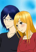 Uryu And Orihime by Cobexs