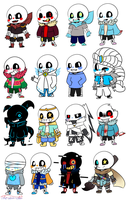 Collection Of Smol Sanses by sinjour