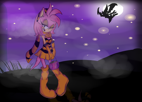 Amy In The Halloweeny Dark by little-x-flower