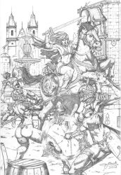 Red Sonja vs Maidens Commission by MarkMarvida