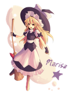 Touhou : Marisa Kirisame by ClearEchoes