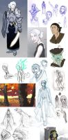 Doodle Dump October 2011 by Beanjamish