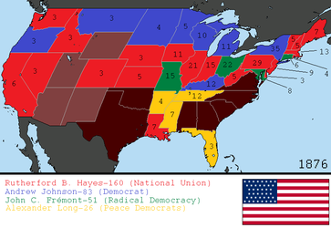 Alternate 1876 US Presidential Election by tylero79