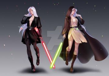 Dark and light sides of the Force by Olchas by cyke40