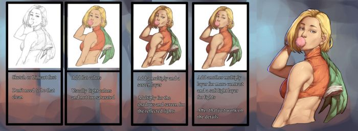 How i work - Blue Mary - KOF by Mick-cortes