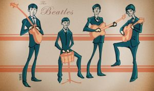 The Beatles by CreativeAbzy