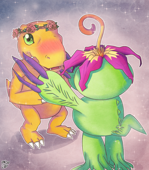 you'd look nice with flowers [GIFT] by Pan-kuzu