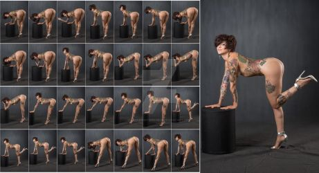 Stock: Johannie Bending Over Poses - 28 Images by stockphotosource
