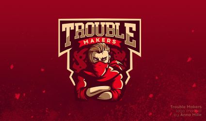 Trouble Makers logo mascot by Freilina