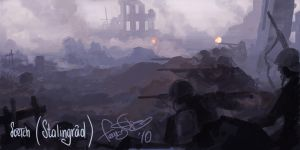 Sketch - Stalingrad Battle by fear-sAs