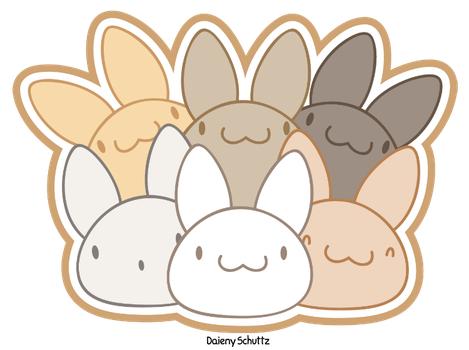 Pile of Bunnies by Daieny