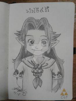 Child Malon from OoT by ShelandryStudio