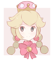 Super Mario Bros - Princess Peachette (Sketch) by chocomiru02