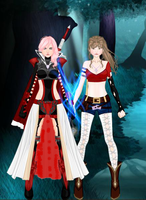 Claire Lightning Farron with myself by Sonnflora