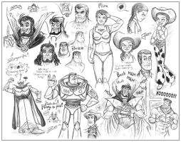 BLoSC+Toy Story sketchdump 1 by zorm