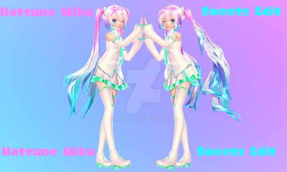 MMD pastel sweets Miku - possible dl? by Rina55