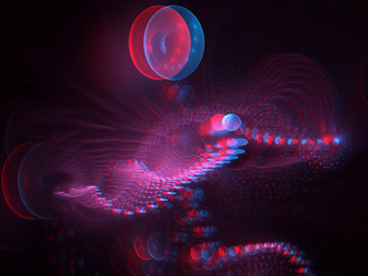 Weird the dragon Anaglyph 3D Stereoscopy by Osipenkov