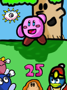 Kirby's 25th Anniversary! by TheMagnificentBoxMan