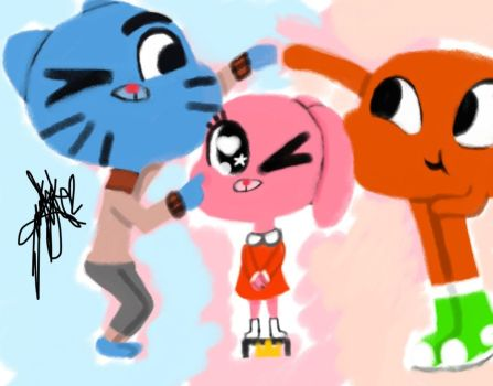 Gumball, Anais y Darwin by EGC2002