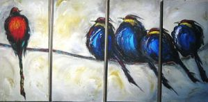 birds on a wire 1 8610 by lilianagraham