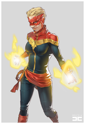 CAPTAIN MARVEL by Pryce14