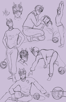 Lorenzo sketch page by Qu-Ross