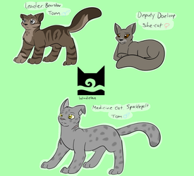 Windclan Comic Characters by IceKitsuneSpirit