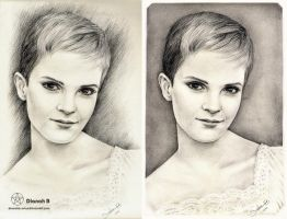 EMMA WATSON - Before and After by Dianah3