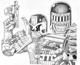 Judge Dredd 40th anniversary tribute by AmirKameron