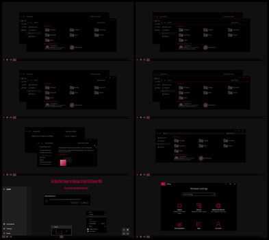 Full Black Red Theme Win10 April 2018 Update by Cleodesktop