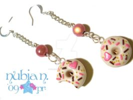 Donut Earrings by colourful-blossom