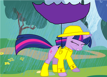 Twilight Sparkle in the Wind and Rain by StevenPepi