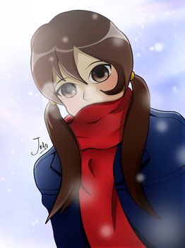 Shy girl in winter! by Hinata1495