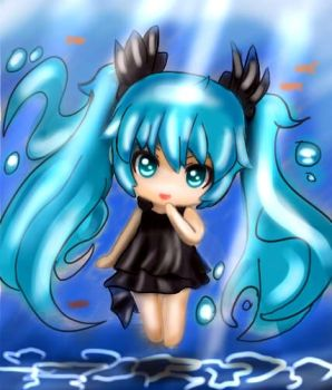 Kawaii Sea Miku by Pokkiu