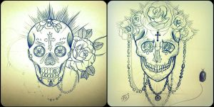 Unfinished Skulls 1. by nyona-xo